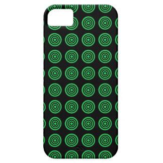 Green Bullseye Black iPhone Case
