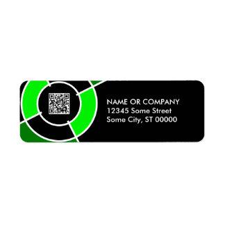 green bullseye QR code Label