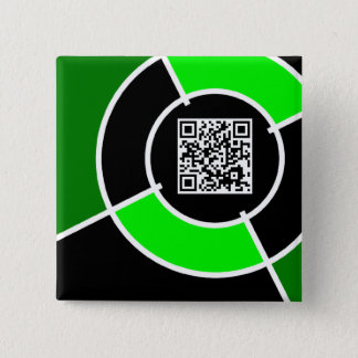green bullseye QR code Pinback Button