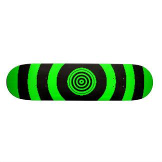 Green Bullseye Skateboard