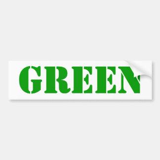GREEN Bumber Sticker