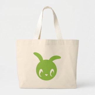 Green Bunny Jumbo Tote Bag