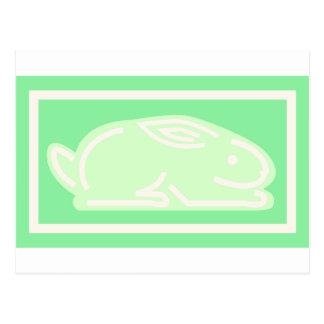 Green Bunny Postcard