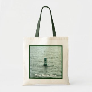 Green Buoy Channel Marker Personalized Budget Tote Bag