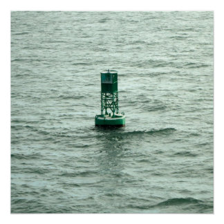 Green Buoy Poster