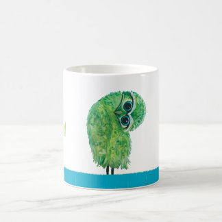 Green Burrowing Owl Coastal Art Coffee Mug
