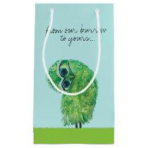 Green Burrowing Owl Coastal Art Small Gift Bag
