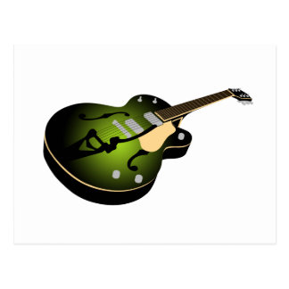 Green Burst Guitar Postcard