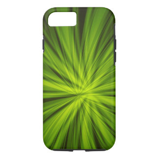 Green BURST iPhone 7 Tough Case