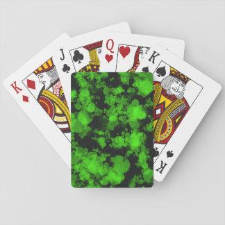 Green Burst Playing Cards