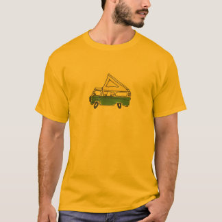 Green Bus Adventures Bus Drawing Popped T-Shirt