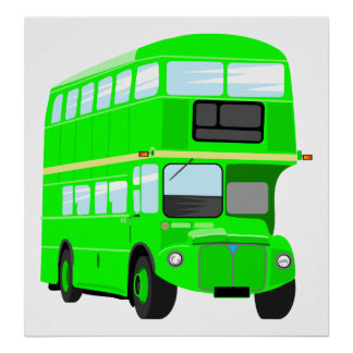 Green Bus Poster