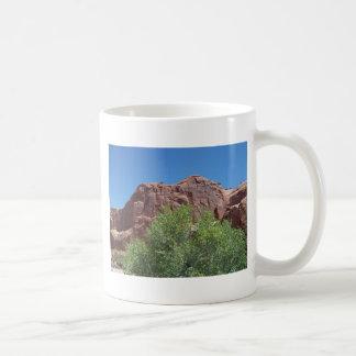 Green Bush and Red Rock Coffee Mug