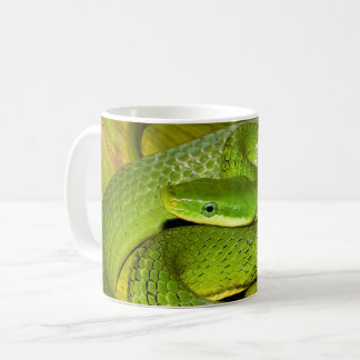 Green Bush Rat Snake Coffee Mug