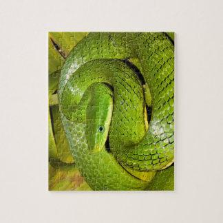 Green Bush Rat Snake Jigsaw Puzzle