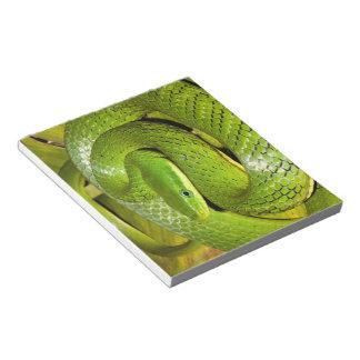 Green Bush Rat Snake Notepad