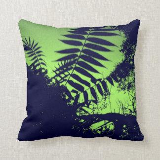 Green Bush Throw Pillows