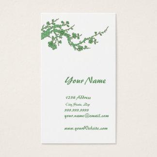 Green Business Card Profile Card
