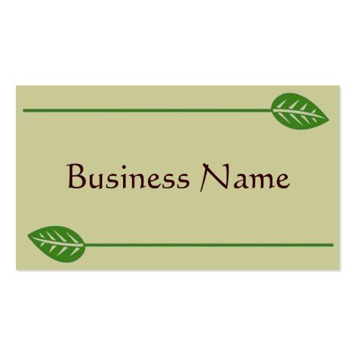 Green Business cards (back side)