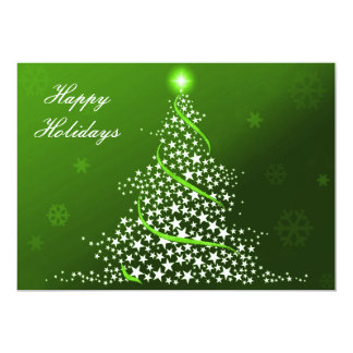 """green Business Holiday Flat cards 5"""" X 7"""" Invitation Card"""