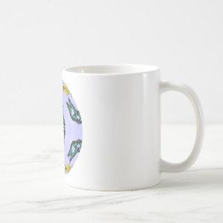 Green Butterflies Coffee Mug