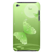 Green Butterflies iPod Touch Case