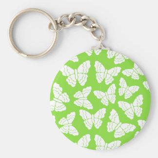Green butterflies keychain