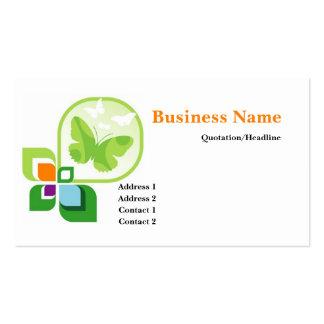 Green Butterflies Logo Business Card