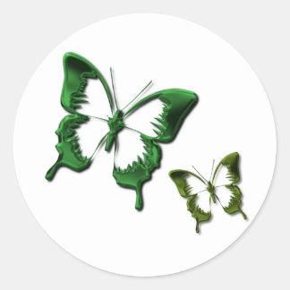 Green Butterflies Sticker