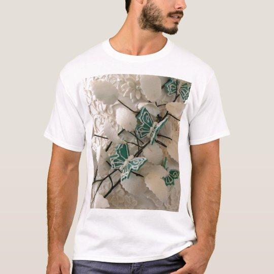 Green butterflies T shirt