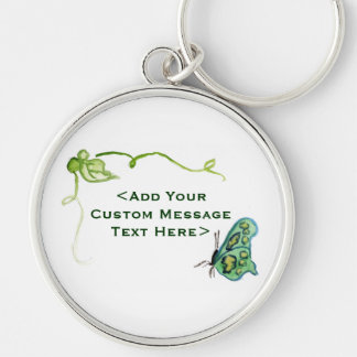 Green Butterfly and Green Vine Charm Keychains