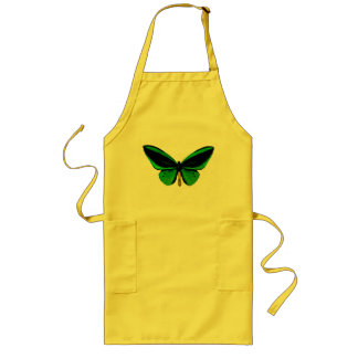 Green Butterfly Apron