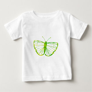Green Butterfly Baby T-Shirt