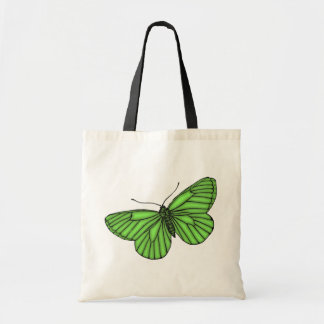 Green Butterfly Budget Tote Bag