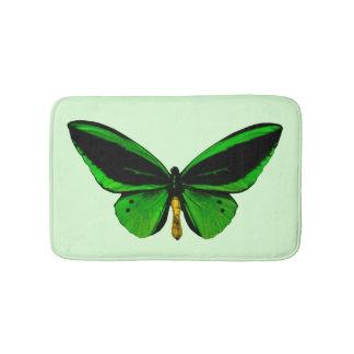 Green Butterfly Bath Mat