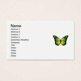 Green butterfly business card