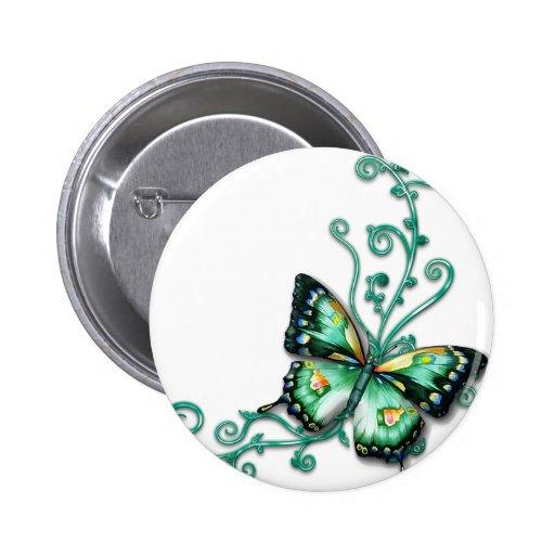 green butterfly pin