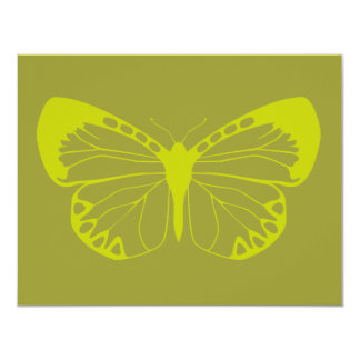Green Butterfly Card