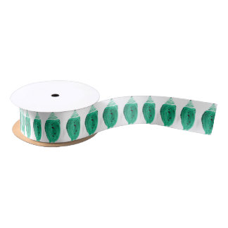 Green Butterfly Cocoon Satin Ribbon