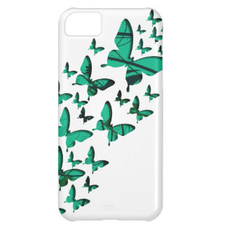 Green Butterfly Cutouts Case For iPhone 5C