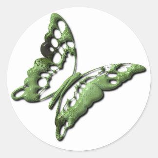 Green Butterfly Designs Sticker