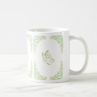 Green Butterfly Embellishment Coffee Mug