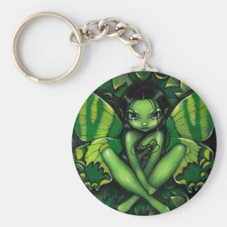"""Green Butterfly Fantasy"" Keychain"