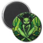 """Green Butterfly Fantasy"" Magnet"