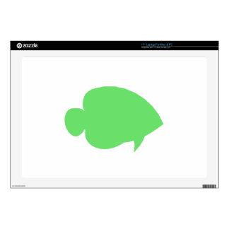 Green Butterfly Fish Skins For Laptops