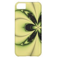 Green Butterfly Fractal Case For iPhone 5C