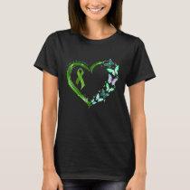 Green Butterfly Heart I'm Survivor Cardiovascular T-Shirt