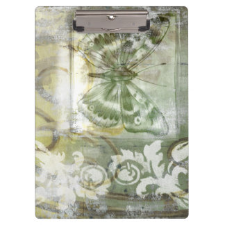Green Butterfly Inset with Ironwork Gate Clipboard