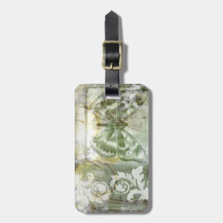 Green Butterfly Inset with Ironwork Gate Tags For Luggage