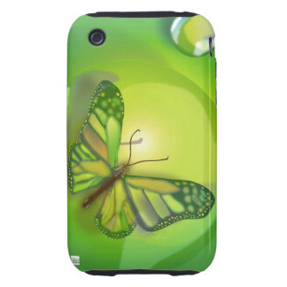 Green Butterfly iPhone 3 Case-Mate Case